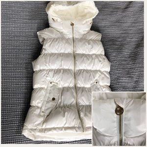 NWT-Michael Kors white feathered down vest- Medium